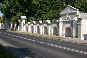Ogrodzenie parkowe od strony ulicy Partyzantów