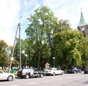 Postój taksówek w Końskich
